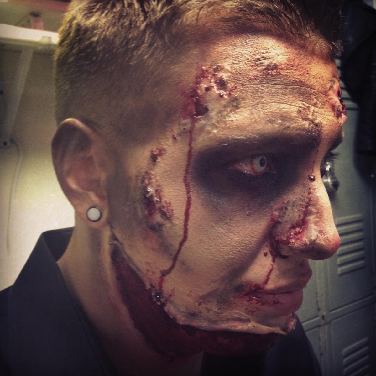 Zombie Makeup Peeling Face