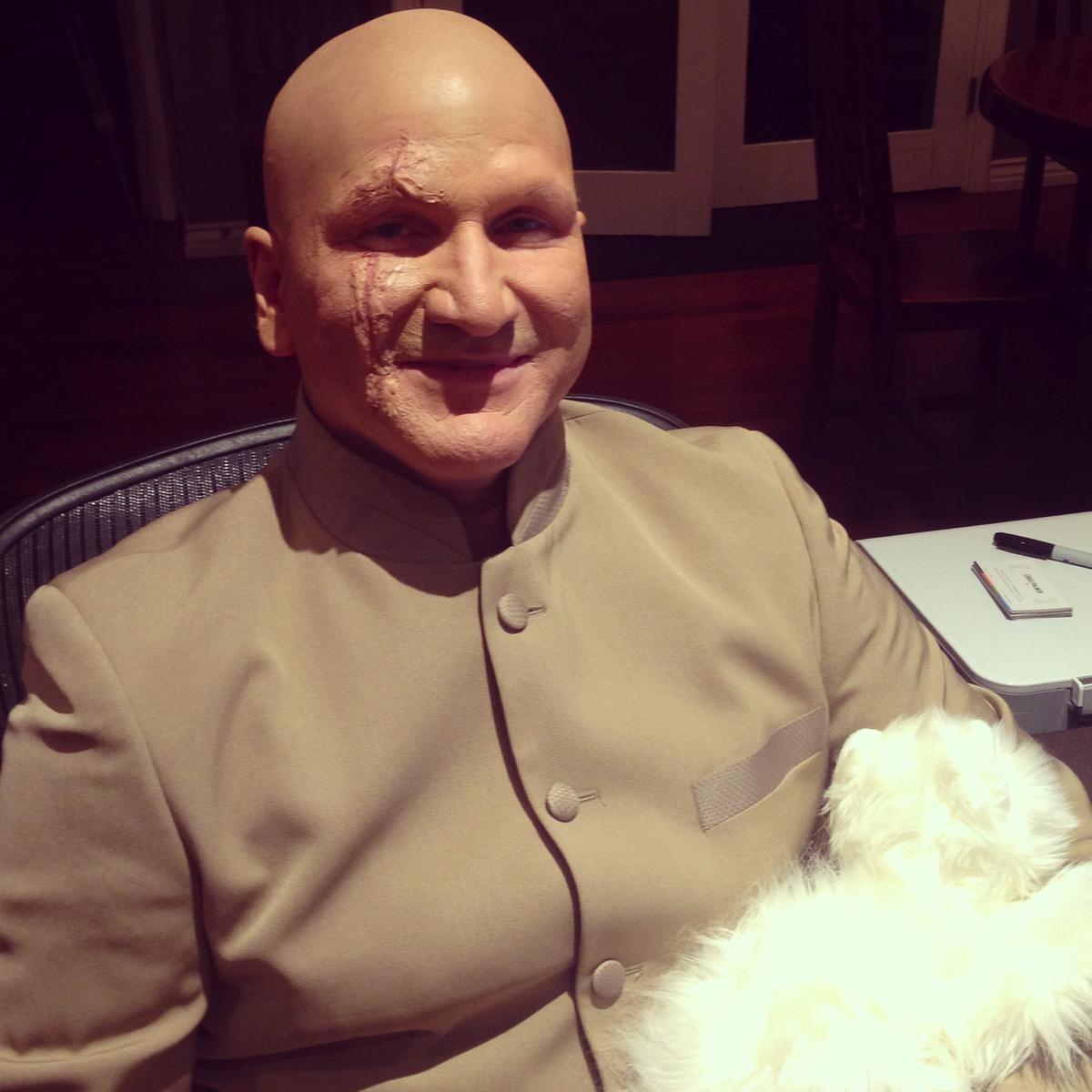 Dr. Evil/Blofeld Halloween Makeup